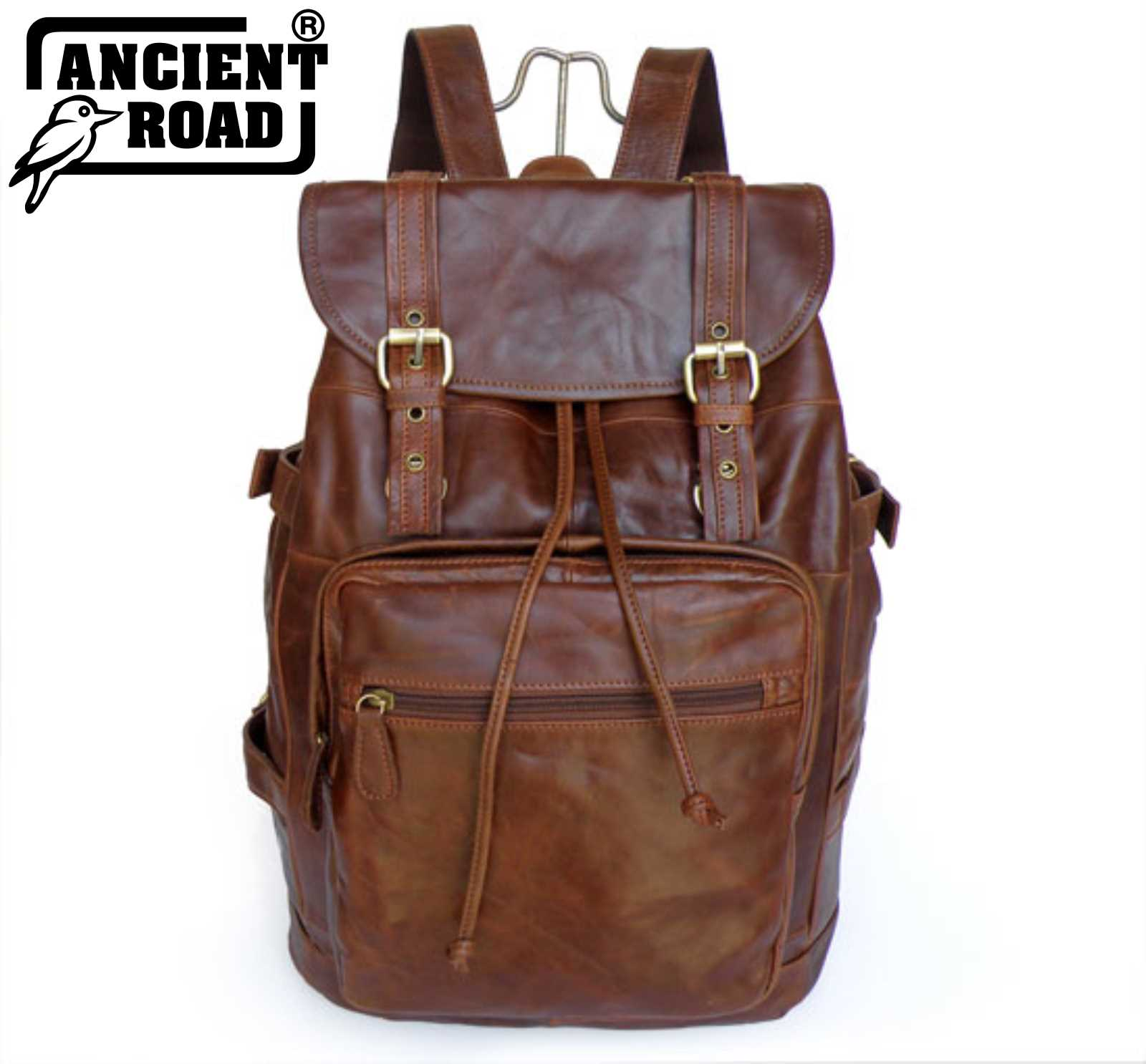 0a8f917e1a Details about ANCIENT ROAD Men s Handme Vintage 100% Genuine Leather  Backpack Travel Bag JM264