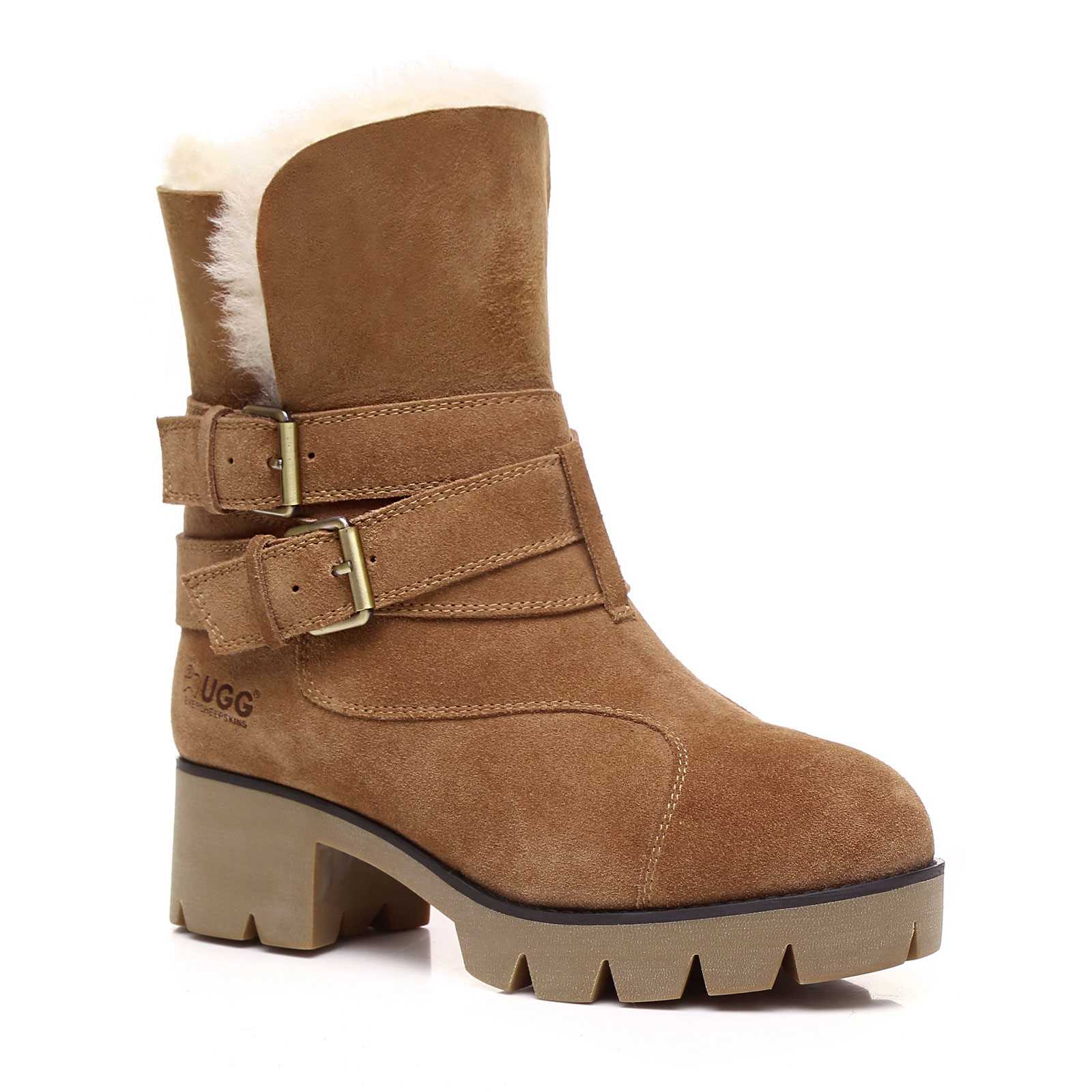 28142b2d7ba Details about UGG Boots Melody Ladies Fashion Boots With Strap Buckle  Australian wool lining