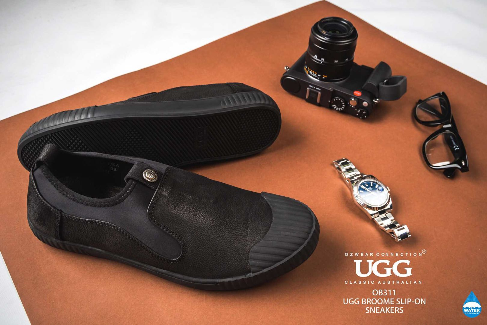 0e880f41dc1 Details about UGG OZWEAR BROOME MENS SLIP- ON SNEAKERS LOAFERS COMFORTABLE  CASUAL SHOES OB311
