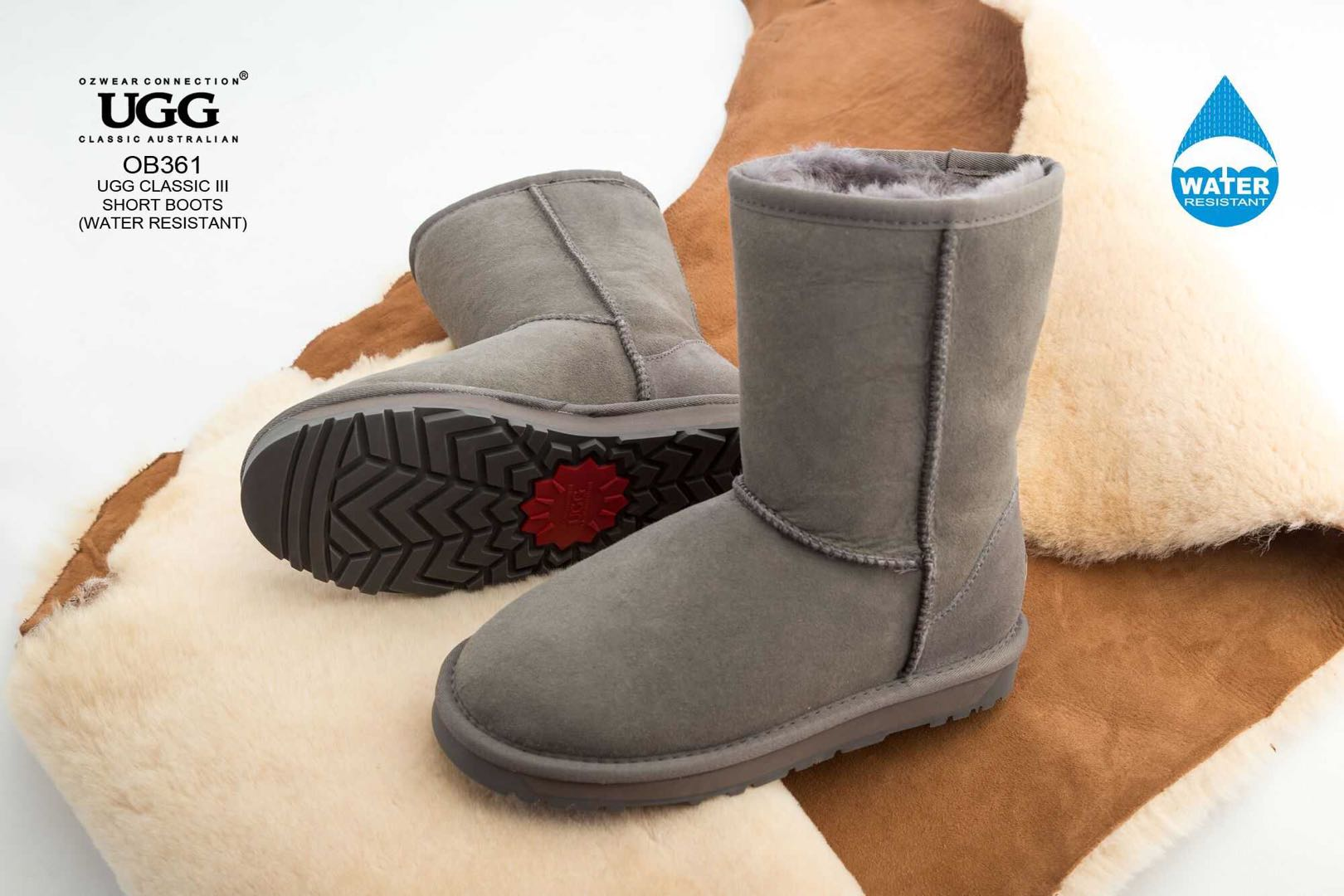 d15f8716a3e UGG OZWEAR 3G Ladies Classic Short Boots Premium Sheepskin Water ...