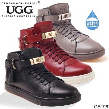 UGG OZWEAR Men's Carter Mens High Top Sneaker Premium Sheepskin Water Resistant Ob196