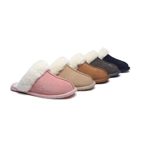 UGG Slippers Australia Premium Sheepskin Unisex Rosa Scuff