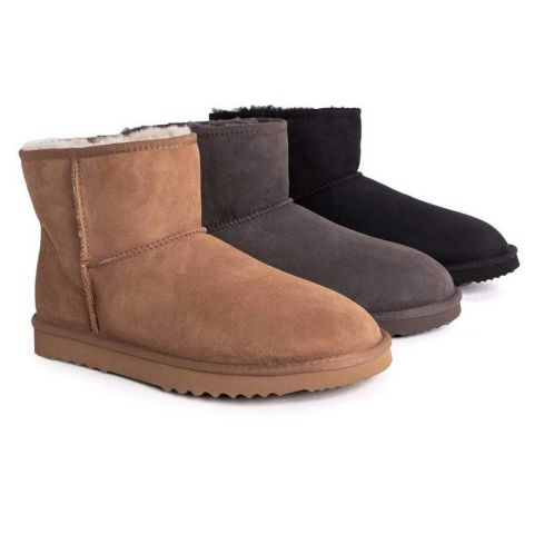 UGG Boots Men Large Size Mini Classic,Australian Genuine double Face Sheepskin,Water Resistant, 15720