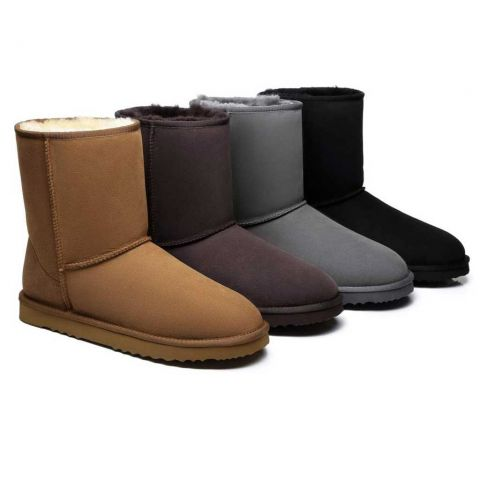UGG Boots Men Large Size Short Classic,Australia Premium Double Face Sheepskin