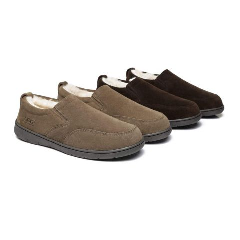 AS Mens Ugg Moccasin Slippers Dino