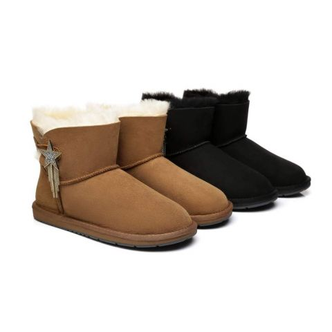 AS UGG Mini Boots Side Star Button Meteor