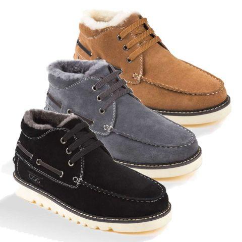 UGG OZWEAR Men's Ugg Benjamin Boots Premium Sheepskin Water Resistant
