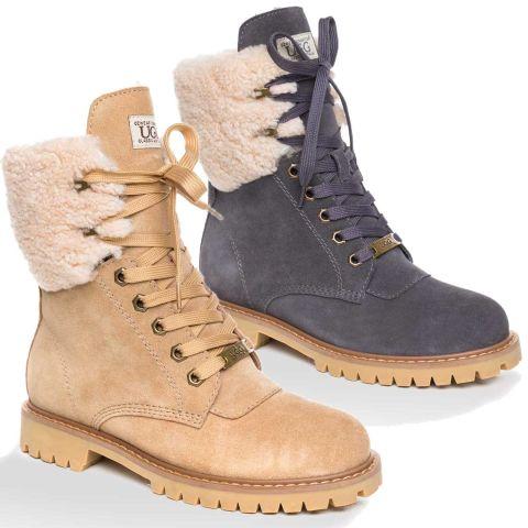 UGG OZWEAR Ladies Liliana Shearling Fashion Boots Australian Premium Sheepskin