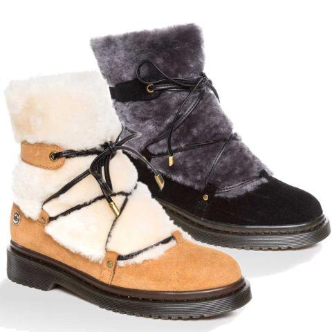 UGG OZWEAR Ladies Mary Shearling Fashion Boots Australian Premium Sheepskin