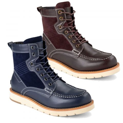UGG OZWEAR Mens Cameron Lace Up Boots Cowskin Suede + Premium Sheepskin Wool