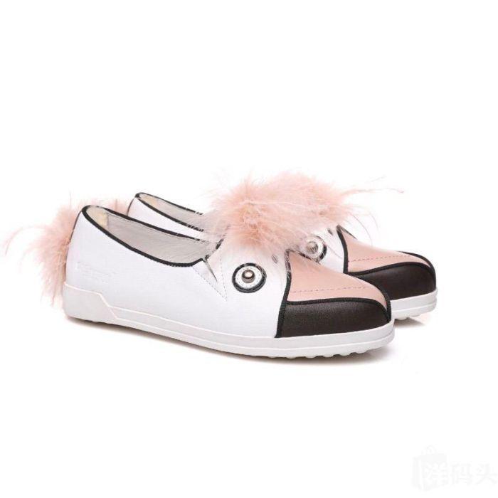 Everugg Kids Flamingo Fashion Flats Genuine Leather Shoes Size 6/7~3/4 #21424