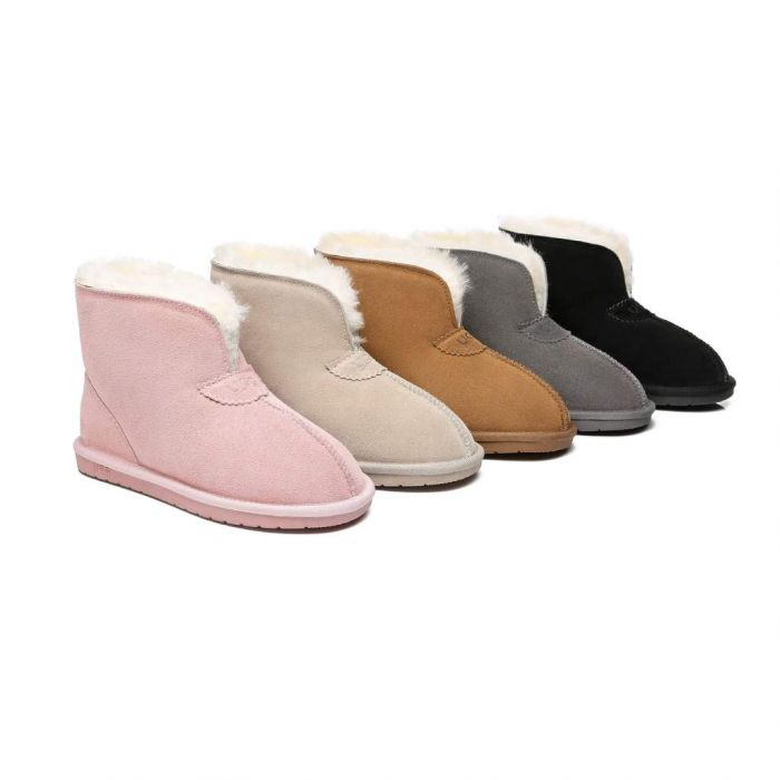 AS UGG Parker Unisex Ankle Premium Double-face Sheepskin Home Water-resistant Slipper