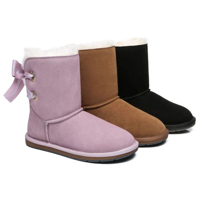 AS UGG Short Boots Basia with Bailey Bow