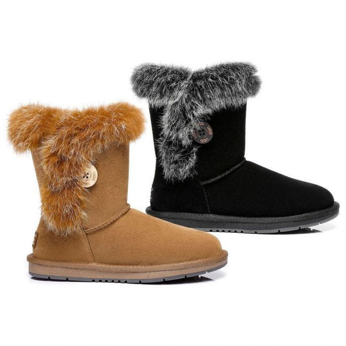 AS UGG Short Button Boots Donna