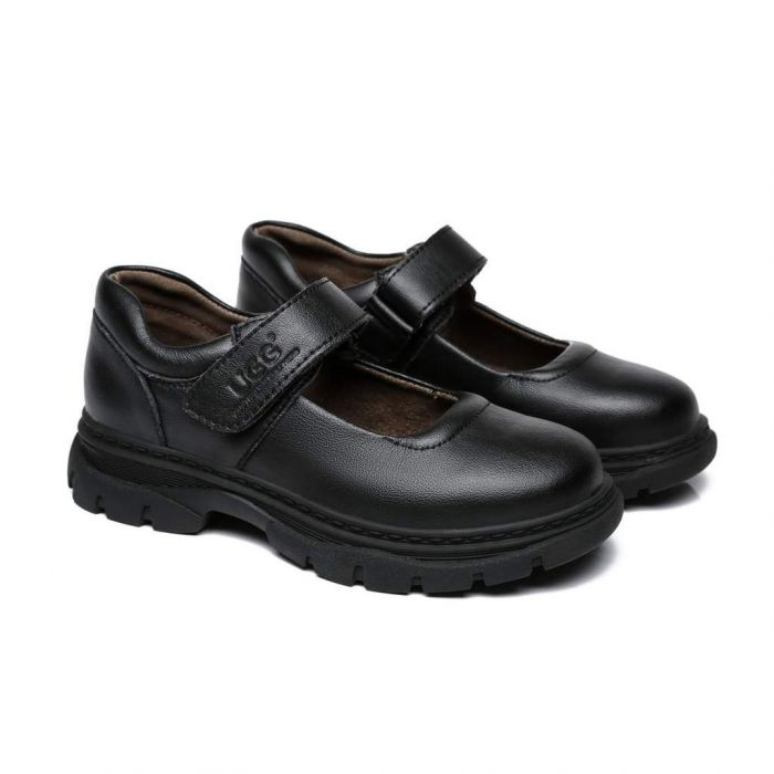 Chris Kids Leather School Shoes with Removable Insole AS5008K