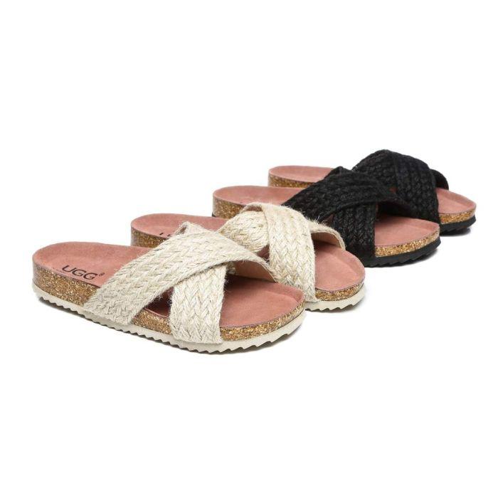 AS UGG Women Sandals Espadrilles Flat Slide Milo