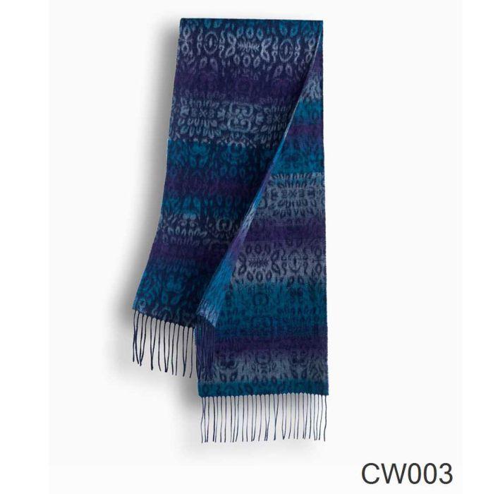 OZWEAR UGG Cashmere + Wool Scarf Wraps- Chocolate/Tan (1740x300mm) CW003