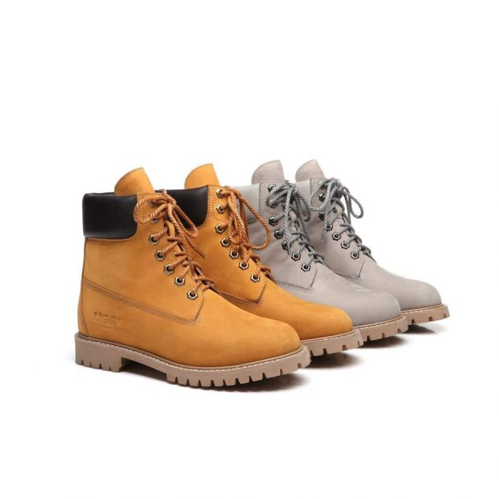 AS UGG Unisex Leather Boots Men's Noah M15800