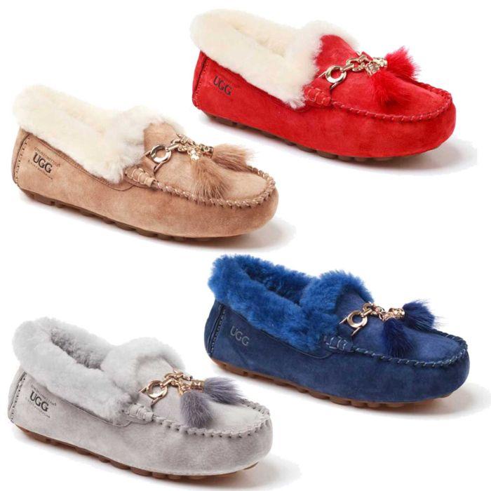UGG OZWEAR Ladies Lagina Mocassin Fleece Premium Sheepskin Ob275