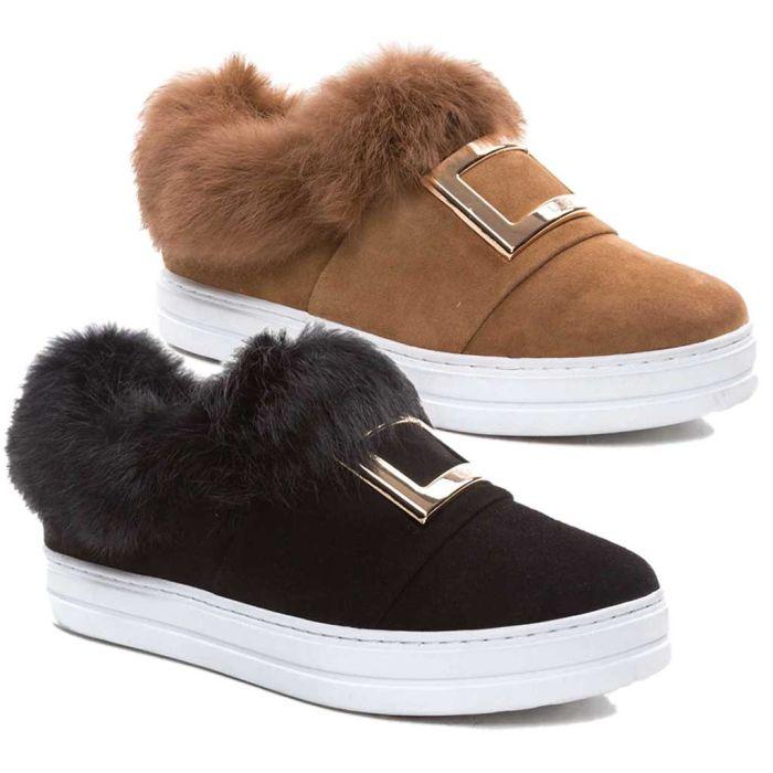 UGG OZWEAR Ladies Tame Shearling Sneakers Australian Premium Double Face Sheepskin Sneakers Ob340